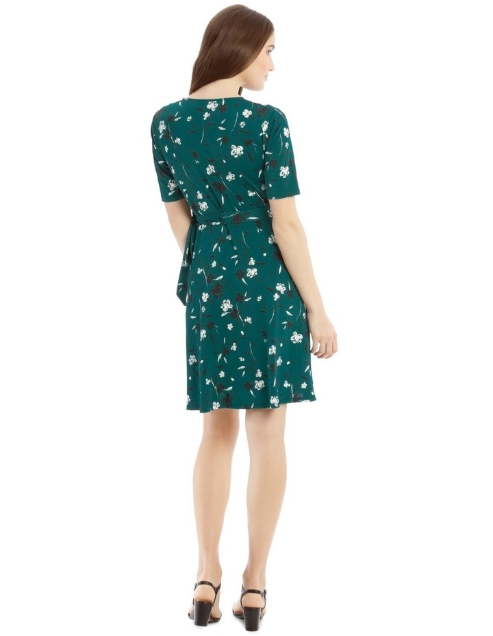 Printed Wrap Jersey Dress image 3