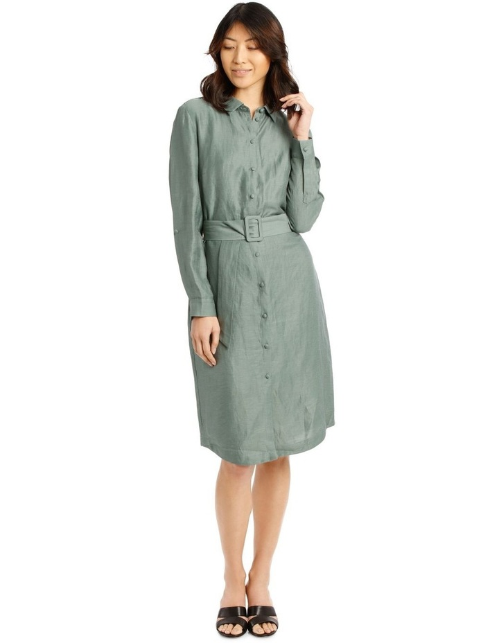 Linen Blend Shirt Dress image 1