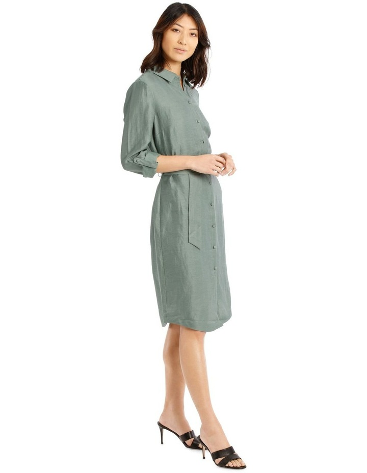 Linen Blend Shirt Dress image 2