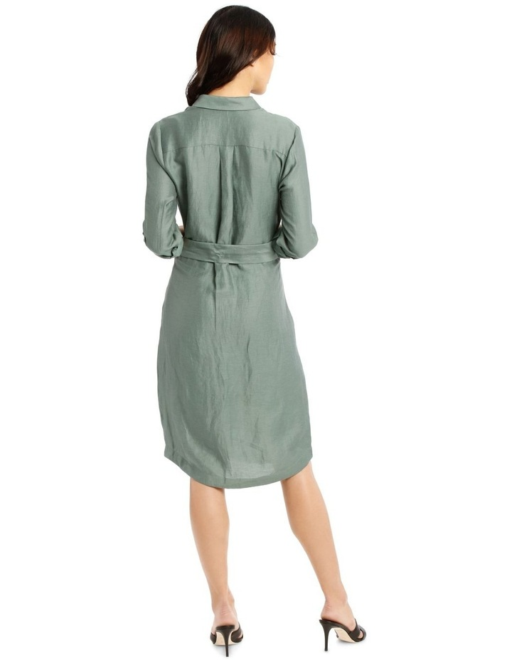 Linen Blend Shirt Dress image 3