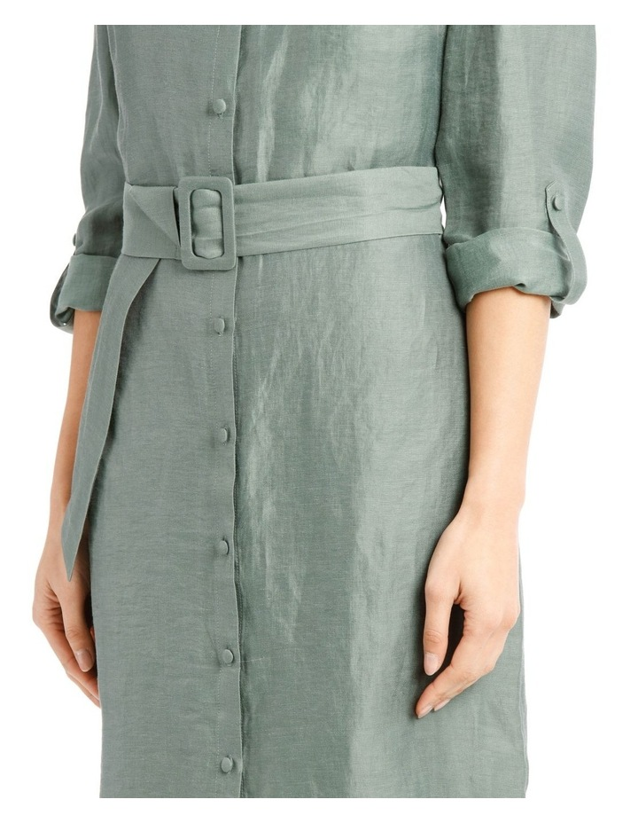 Linen Blend Shirt Dress image 4