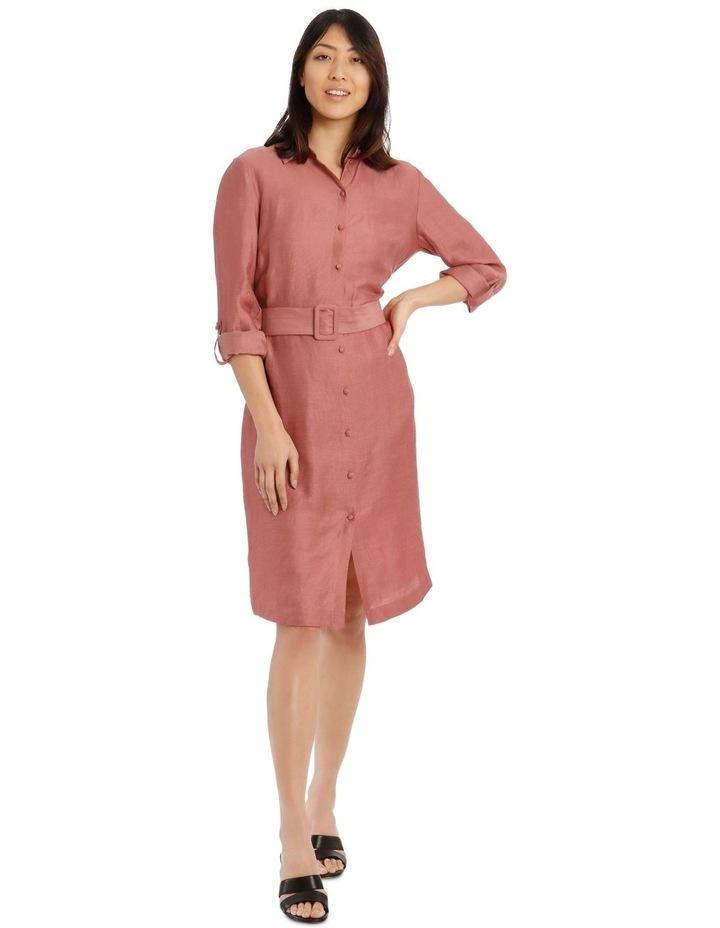 Linen Blend Shirt Dress image 1