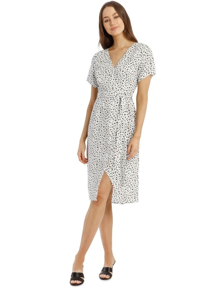 Printed Linen Blend Wrap Dress image 1