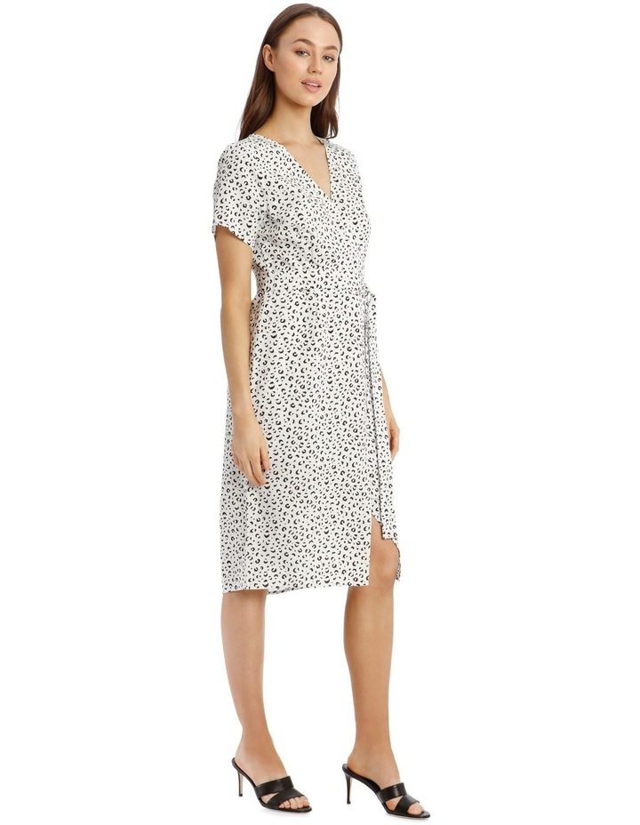 Printed Linen Blend Wrap Dress image 2