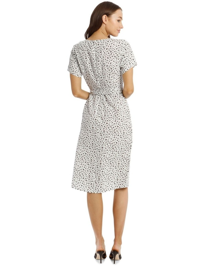Printed Linen Blend Wrap Dress image 3