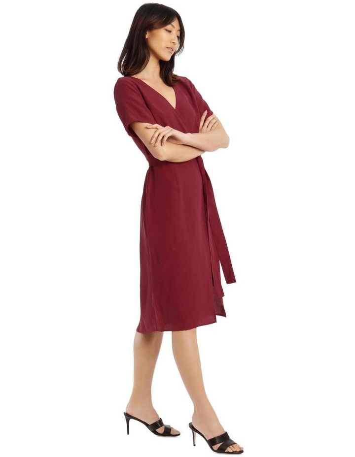 Linen Blend Wrap Dress image 2
