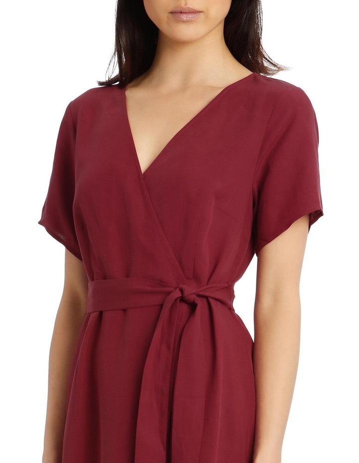 Linen Blend Wrap Dress image 4