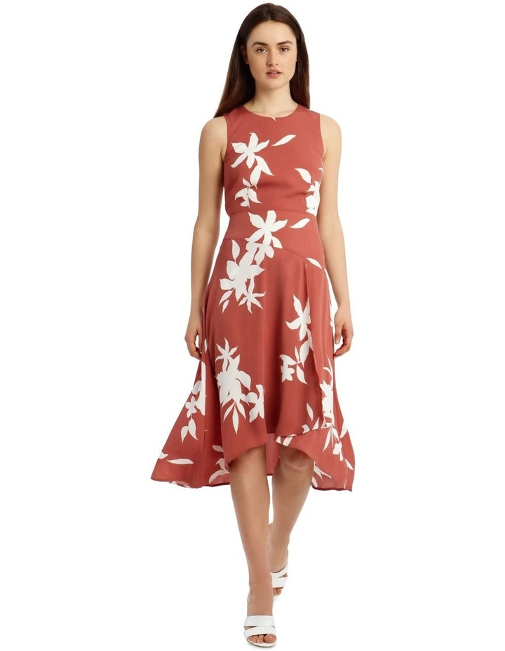 Asymmetrical Floral Silhouette Dress image 1