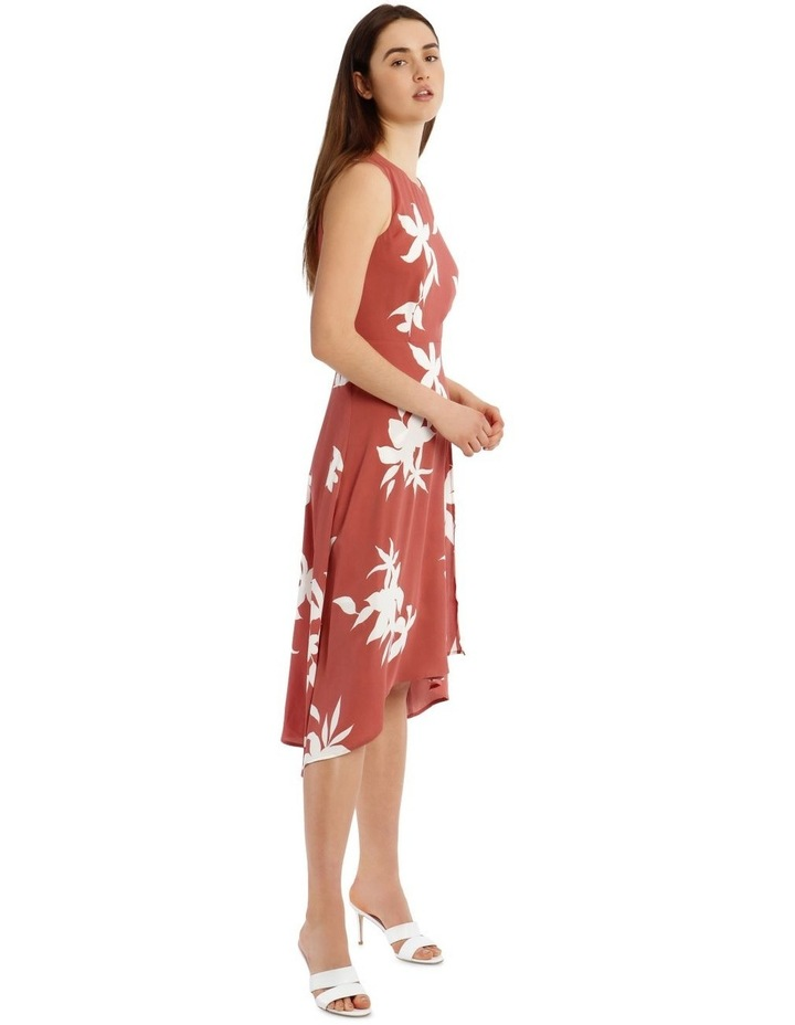 Asymmetrical Floral Silhouette Dress image 2