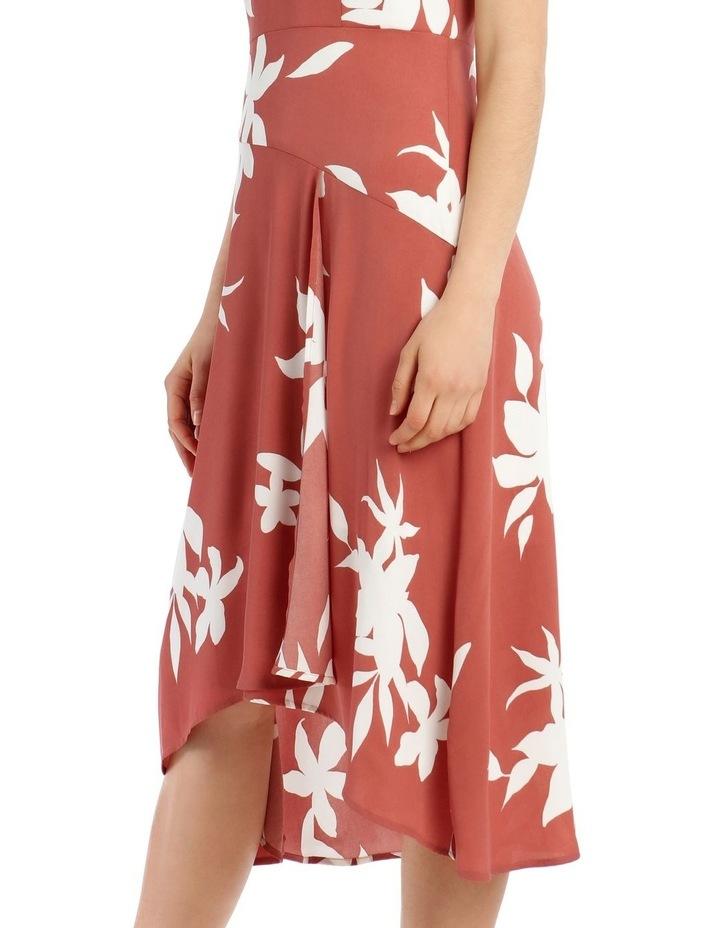 Asymmetrical Floral Silhouette Dress image 4