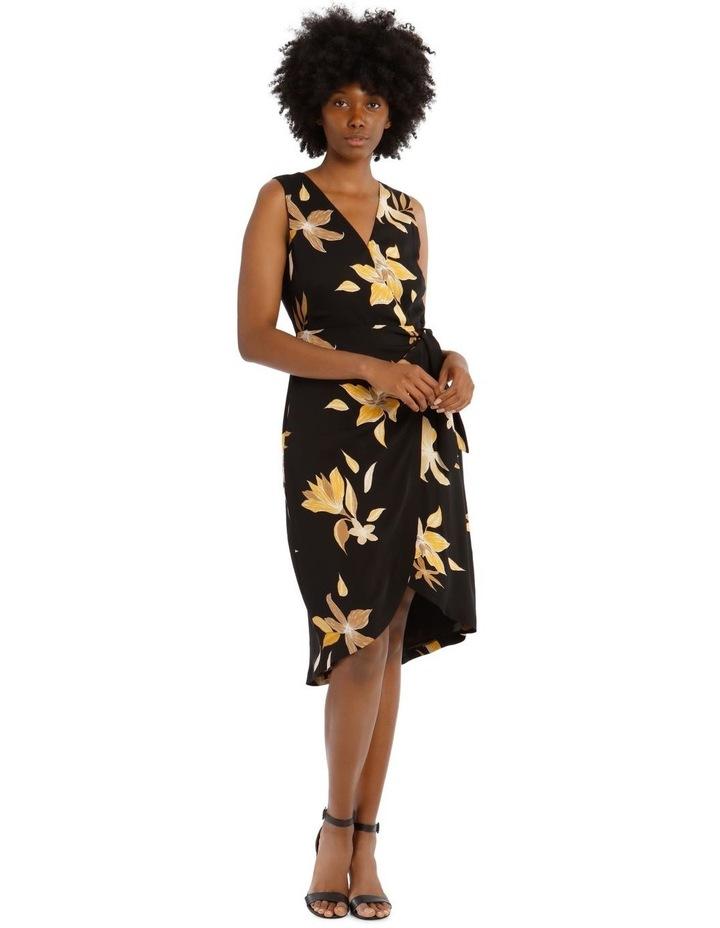Sleeveless Wrap Tie Dress image 1