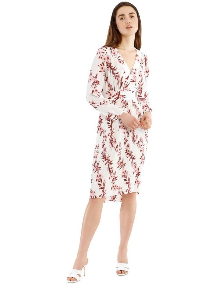 Pleated Hi-low Midi Dress image 1
