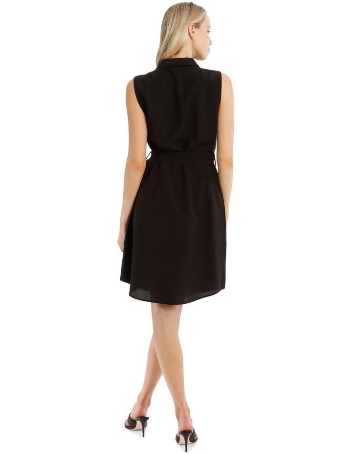 Sleeveless Linen Blend Shirt Dress image 3