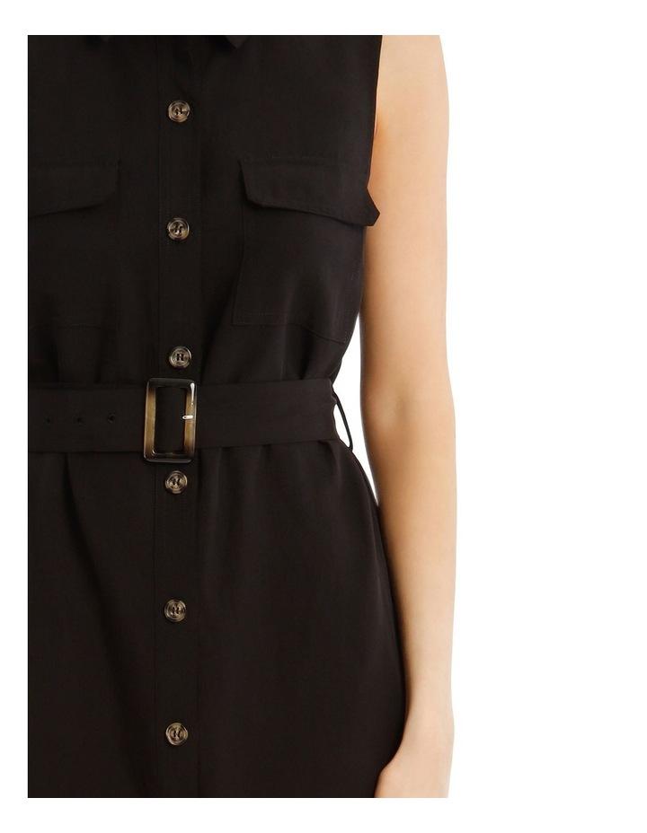 Sleeveless Linen Blend Shirt Dress image 4
