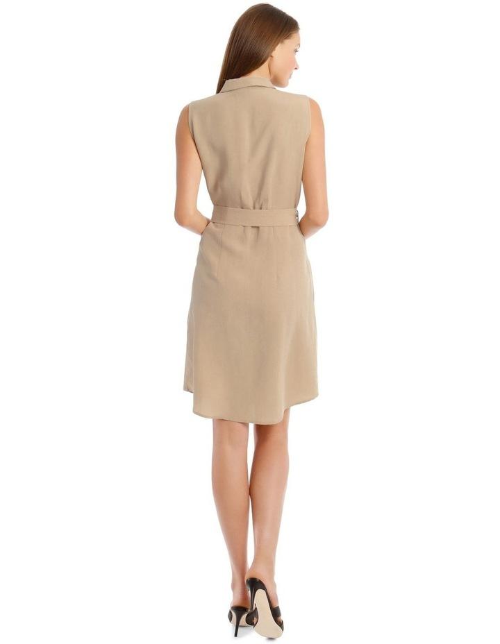 Linen Blend Sleeveless Shirt Dress image 3