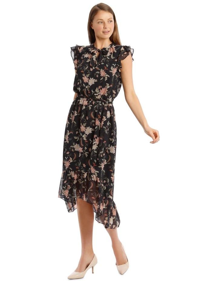 Ruffle Tie Front Midi Dress image 1