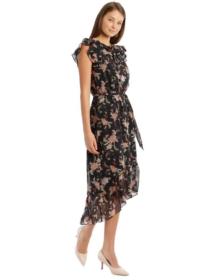 Ruffle Tie Front Midi Dress image 2