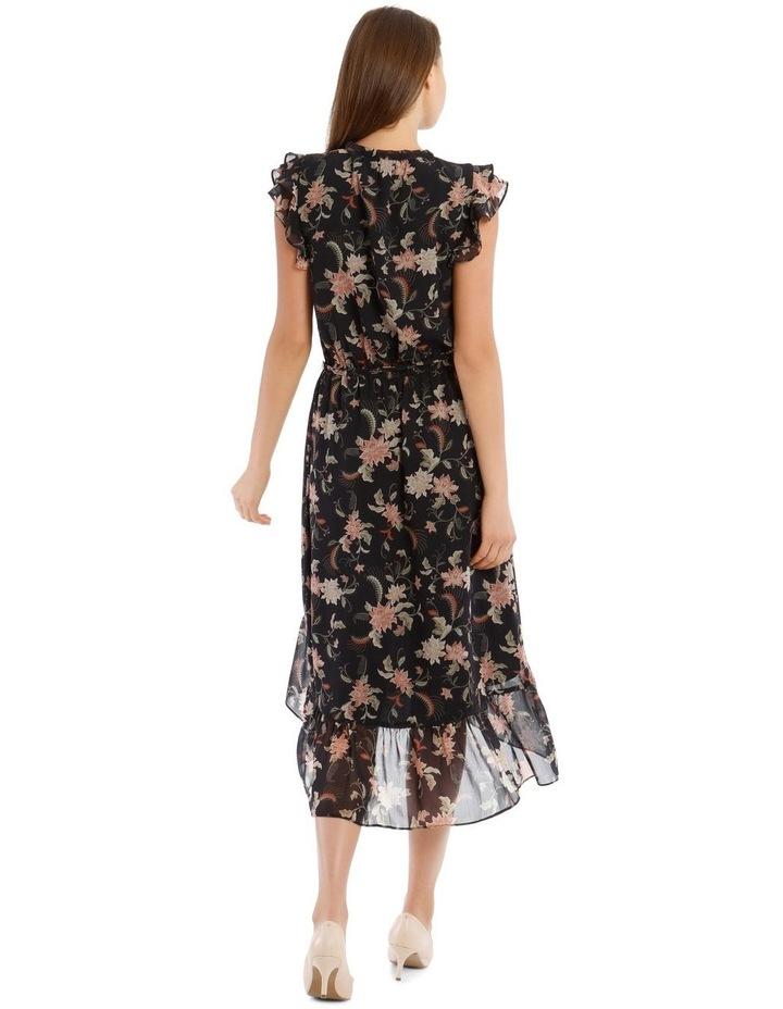 Ruffle Tie Front Midi Dress image 3
