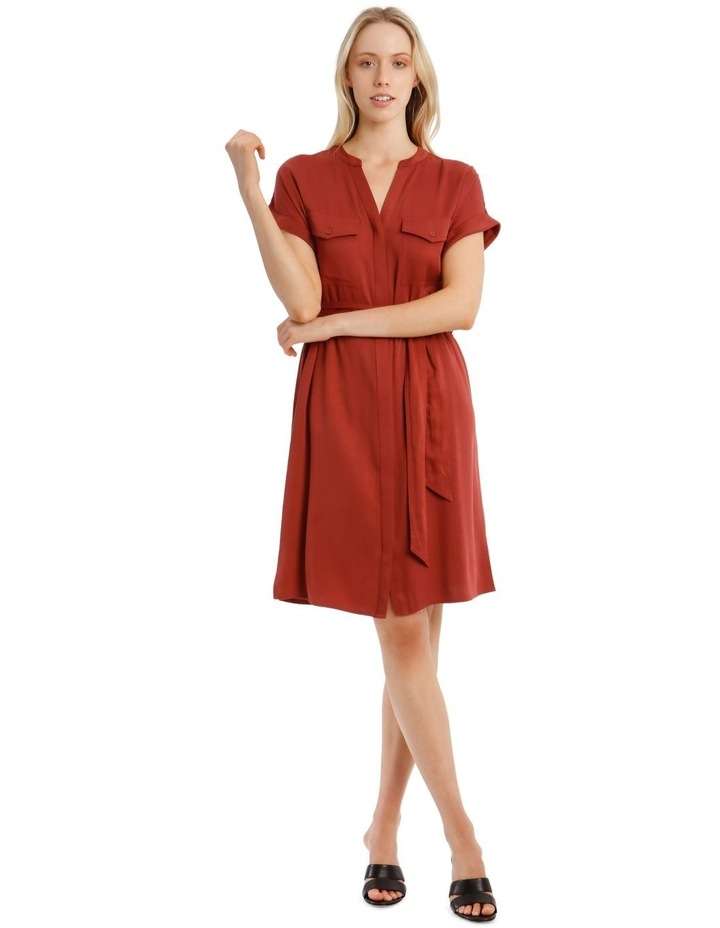 Stitched Lyocell Shirt Dress image 1