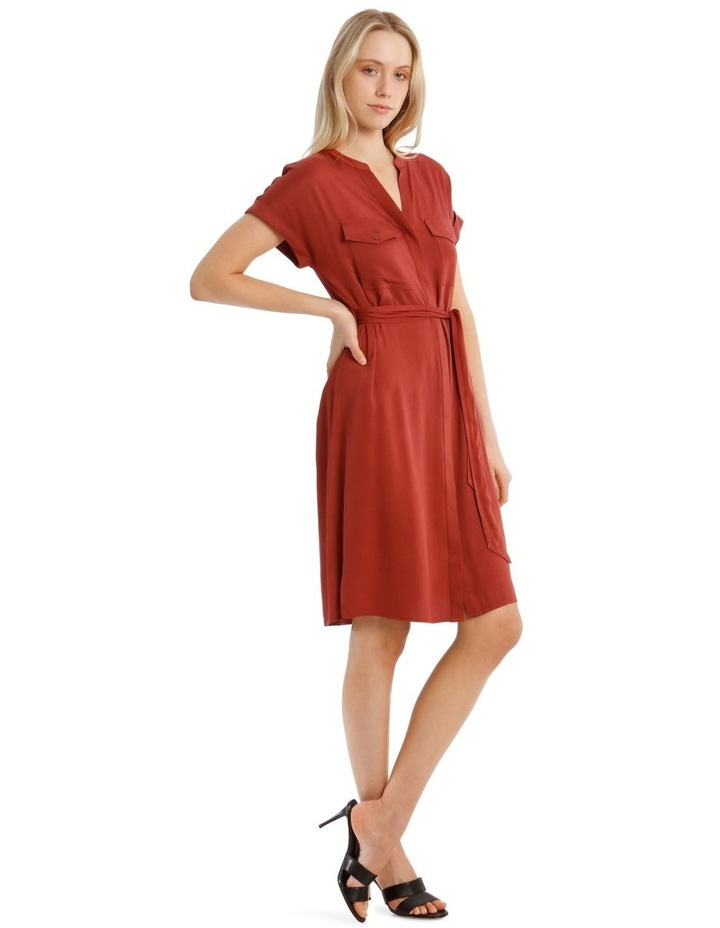 Stitched Lyocell Shirt Dress image 2