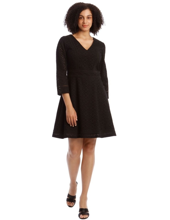 Broiderie Fit And Flare Dress image 1