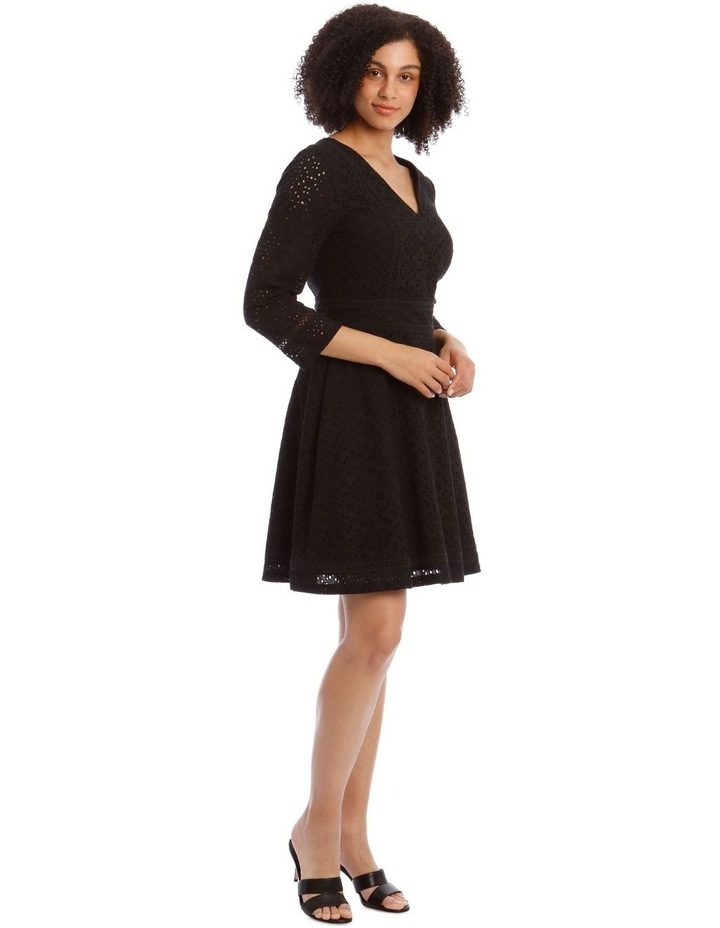 Broiderie Fit And Flare Dress image 2