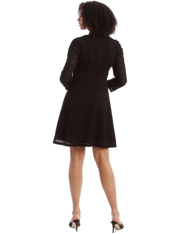 Broiderie Fit And Flare Dress image 3