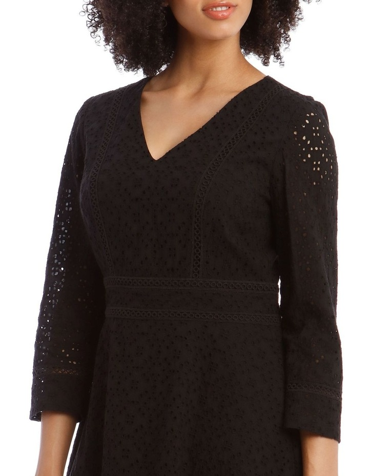 Broiderie Fit And Flare Dress image 4