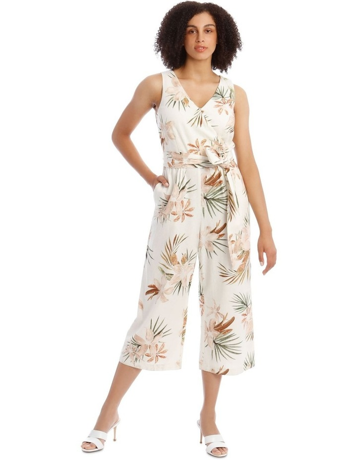 Wrap Linen Jumpsuit image 1