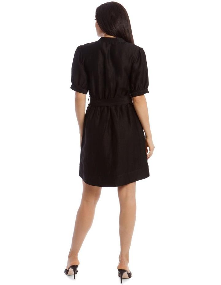 Linen Shirt Dress image 3