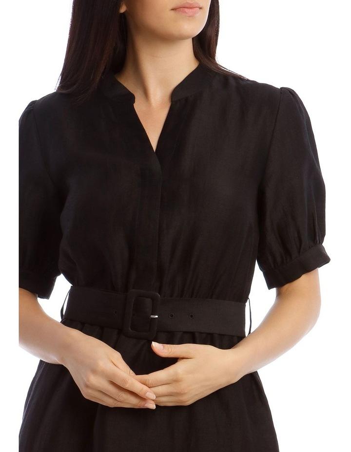 Linen Shirt Dress image 4