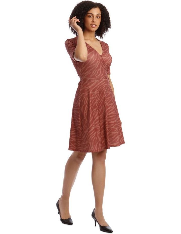 Printed Wrap Jersey Dress image 2