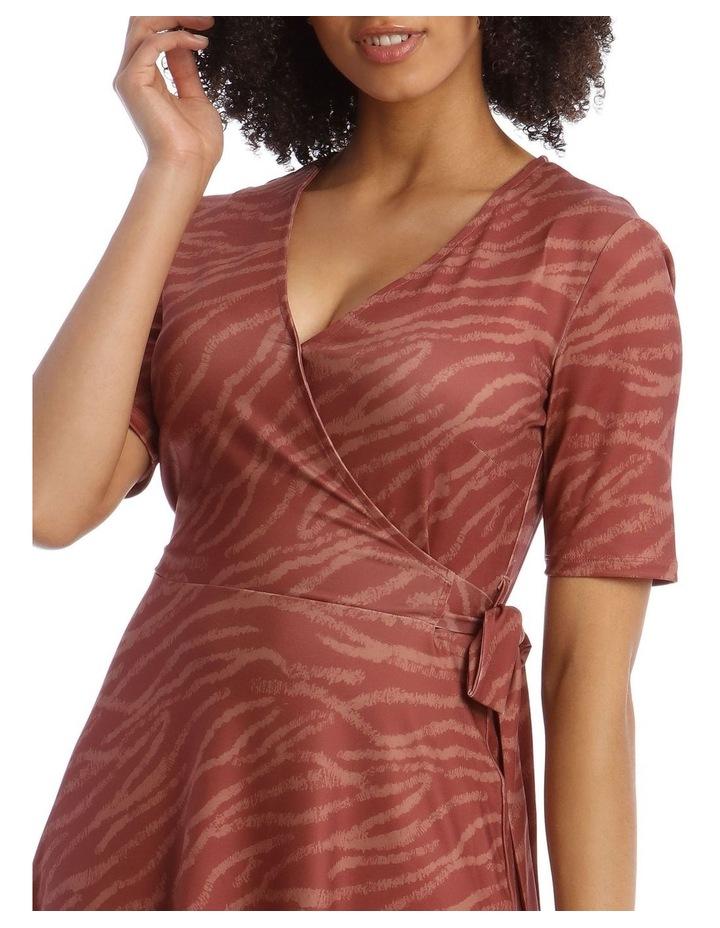 Printed Wrap Jersey Dress image 4