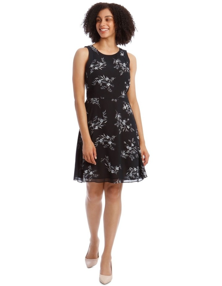 Printed Soft Fit And Flare Dress image 1