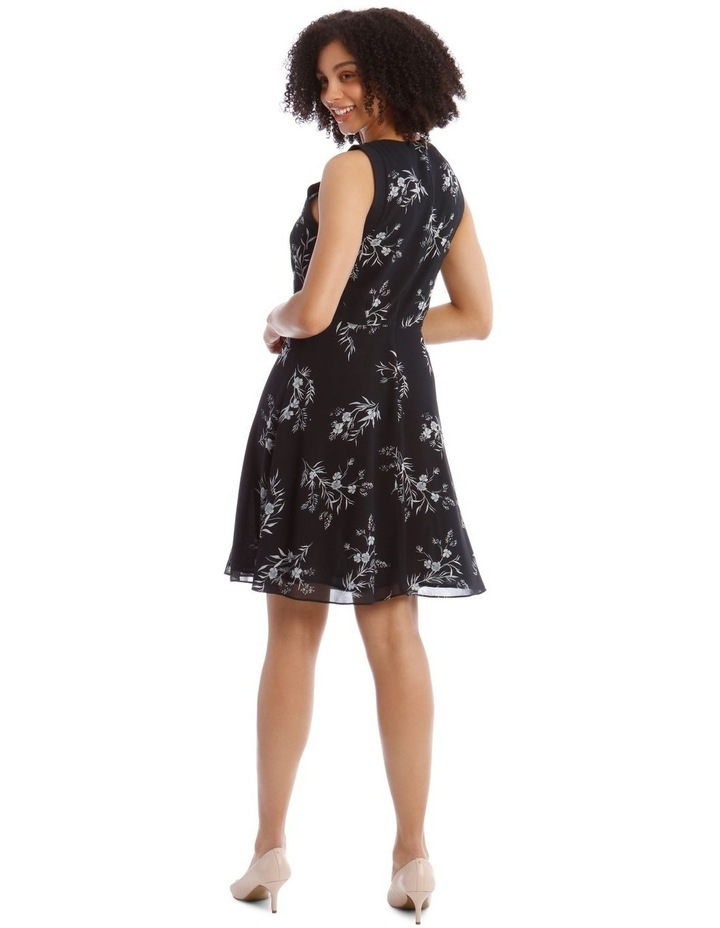Printed Soft Fit And Flare Dress image 3
