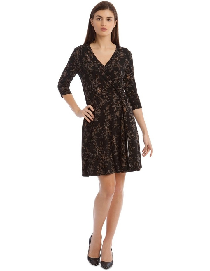 Printed Jersey Wrap Dress image 1