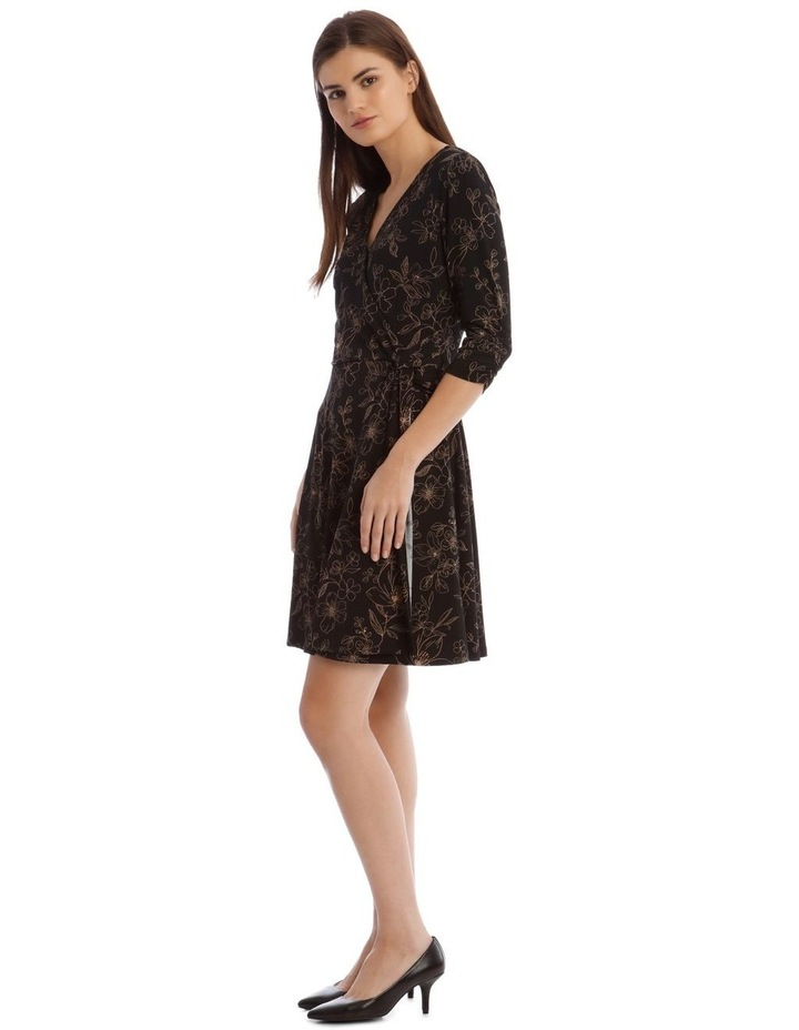 Printed Jersey Wrap Dress image 2