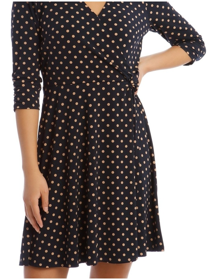 Printed Jersey Wrap Dress image 4