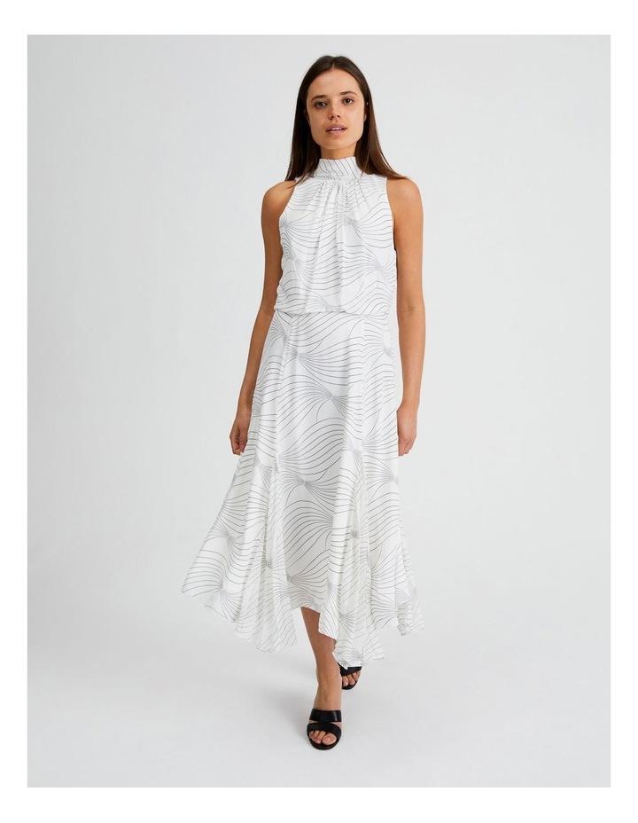 High Neck Godet Dress image 1