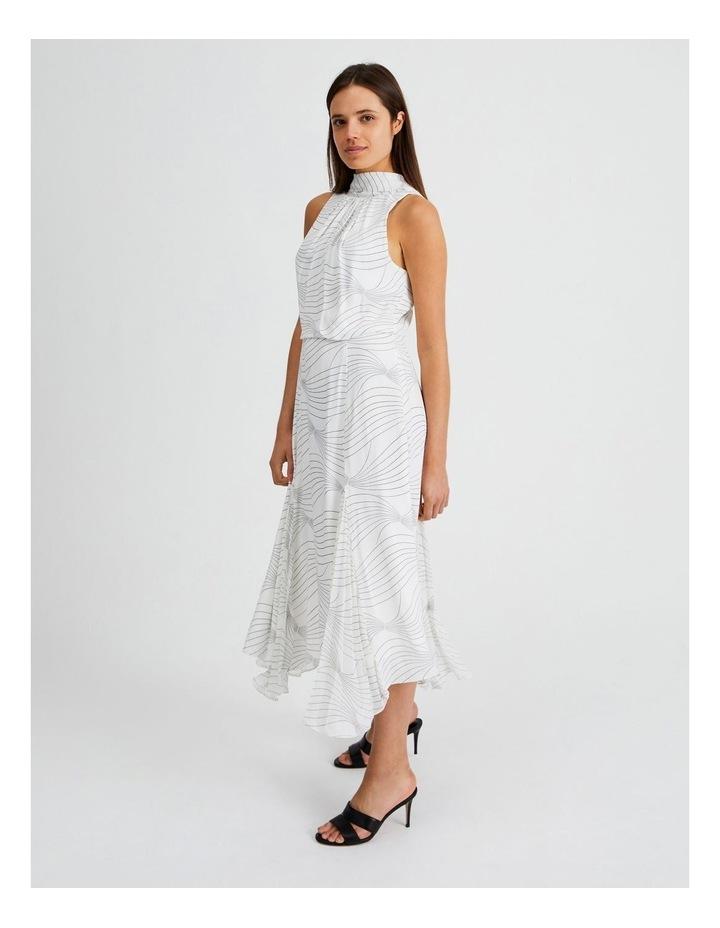 High Neck Godet Dress image 3