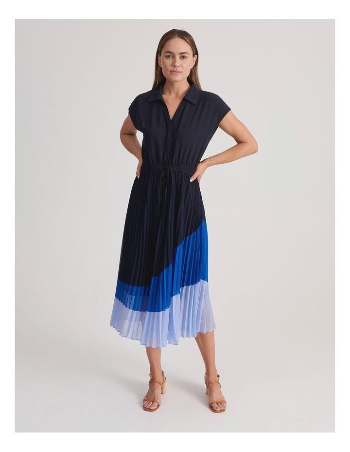 Basque Pleat Skirt Shirt Dress image 1