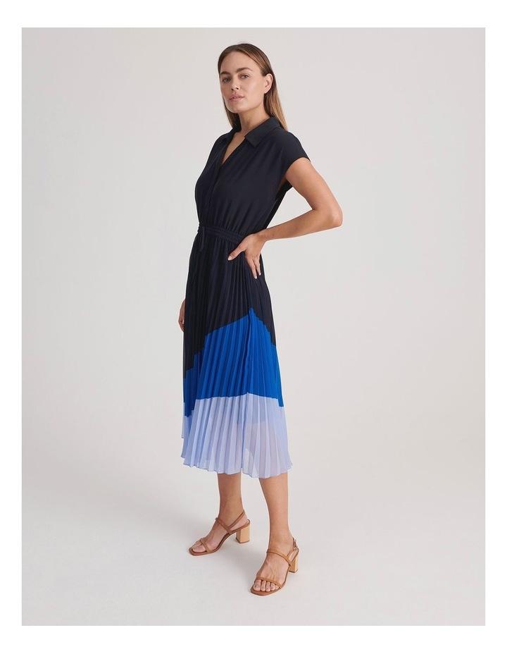 Basque Pleat Skirt Shirt Dress image 2