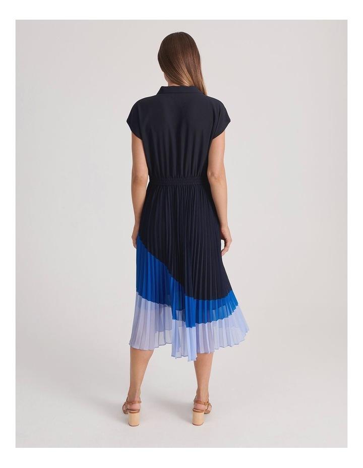 Basque Pleat Skirt Shirt Dress image 3