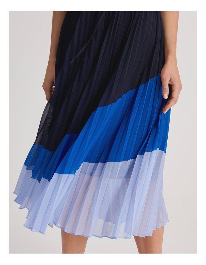 Basque Pleat Skirt Shirt Dress image 4
