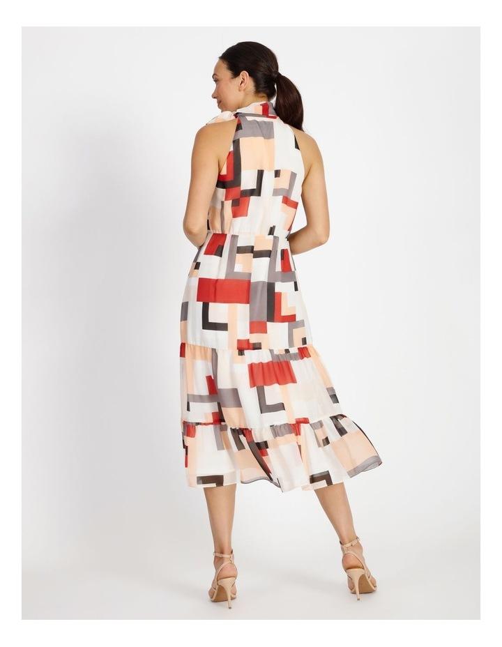 Tie Neck Geo Dress image 3