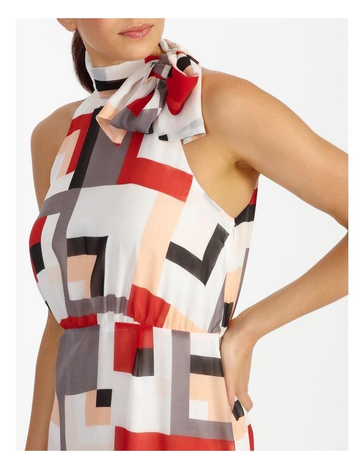 Tie Neck Geo Dress image 4