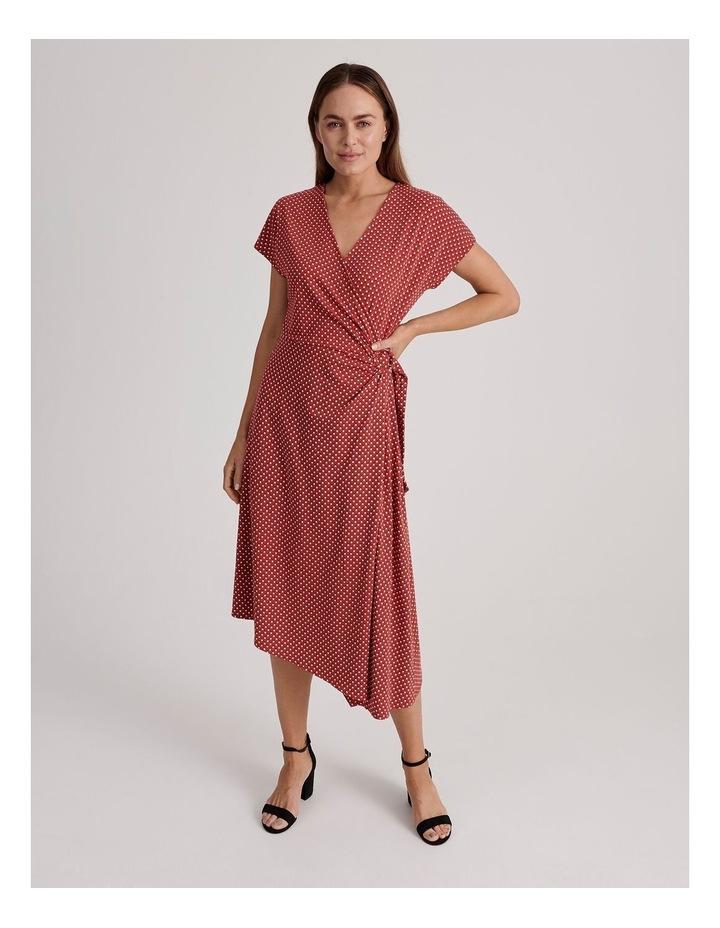 Geo Print Wrap Jersey Dress image 1