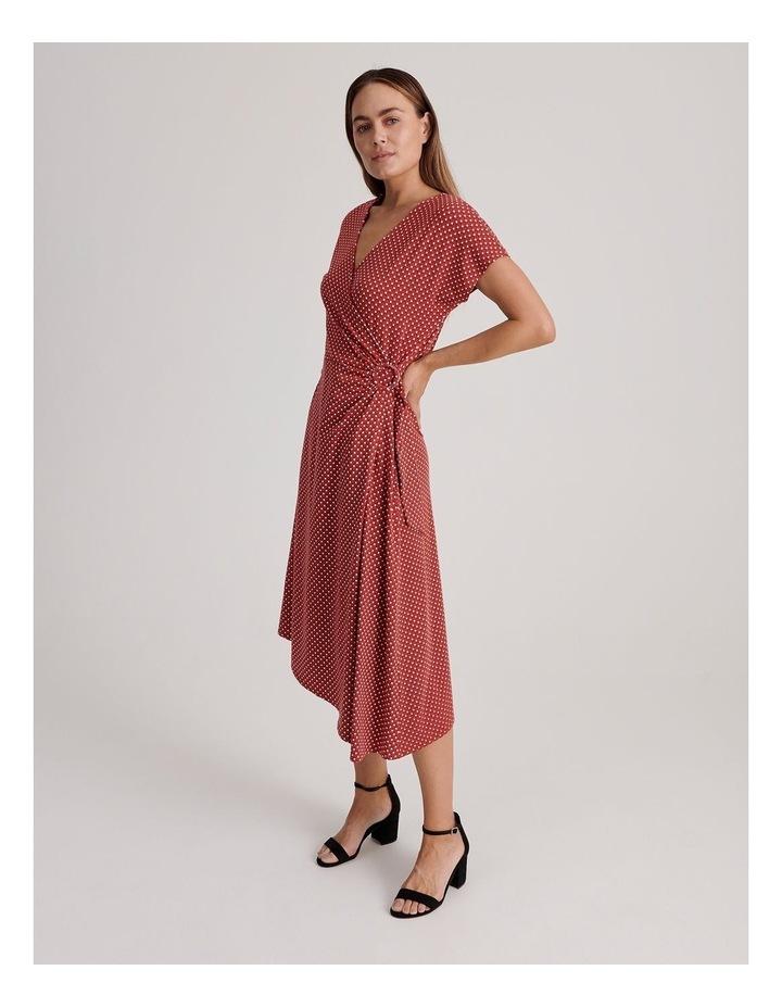 Geo Print Wrap Jersey Dress image 2