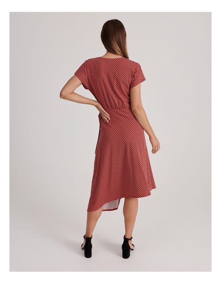 Geo Print Wrap Jersey Dress image 3