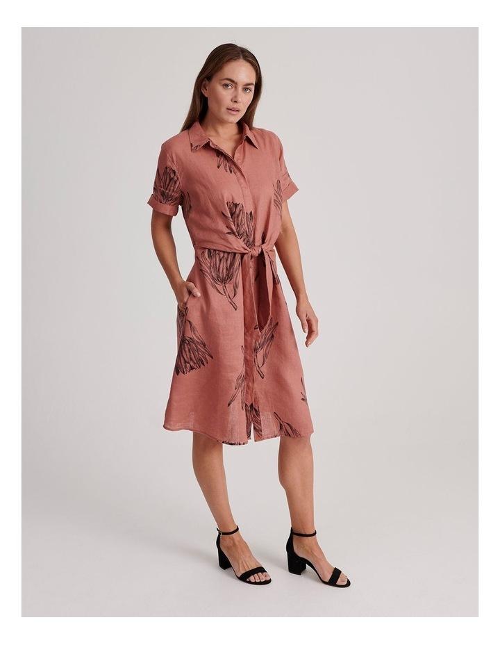 Tie Front Linen Dress image 2